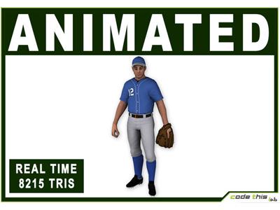 3D Model: White Baseball Pitcher 8215 Tris