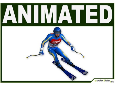 3D Models: White Skier Cg downhill ski winter sports computer graphics skier 3d 3d model