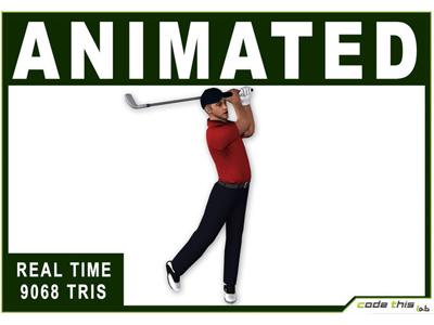 3D Models: White Golfer 9068 Tris