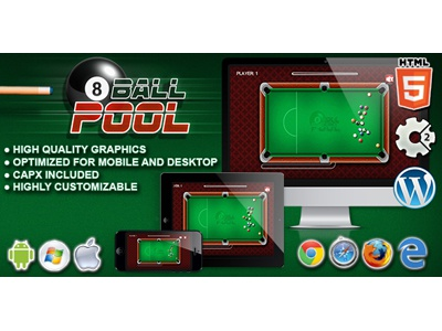 HTML5 Games: 8ball Pool  billiard game sport game pool games html5