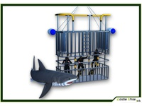 3D Models: Scuba Shark and Cage Dive CG