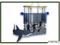 3D Models: Scuba Shark and Cage Dive CG