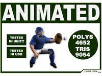 3D Models: White Baseball Catcher 9054 Tris