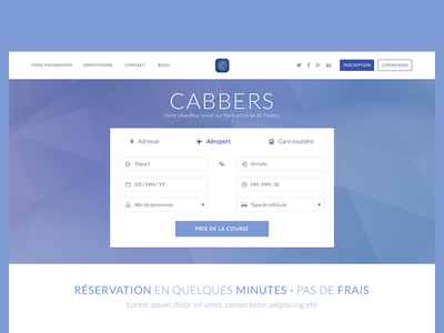 Cabbers Landing Page