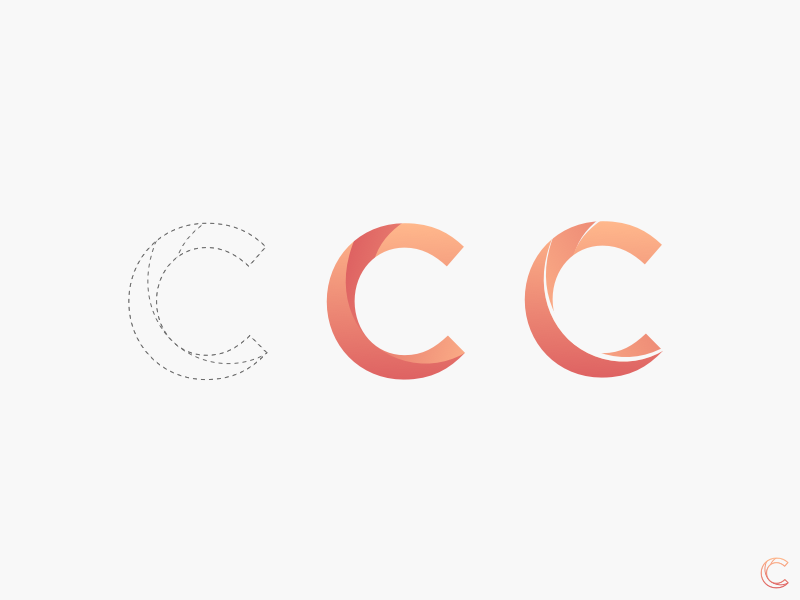 C Logo Process c logo c letter c logo flat flat logo process logo process shapes sketch3 sketch