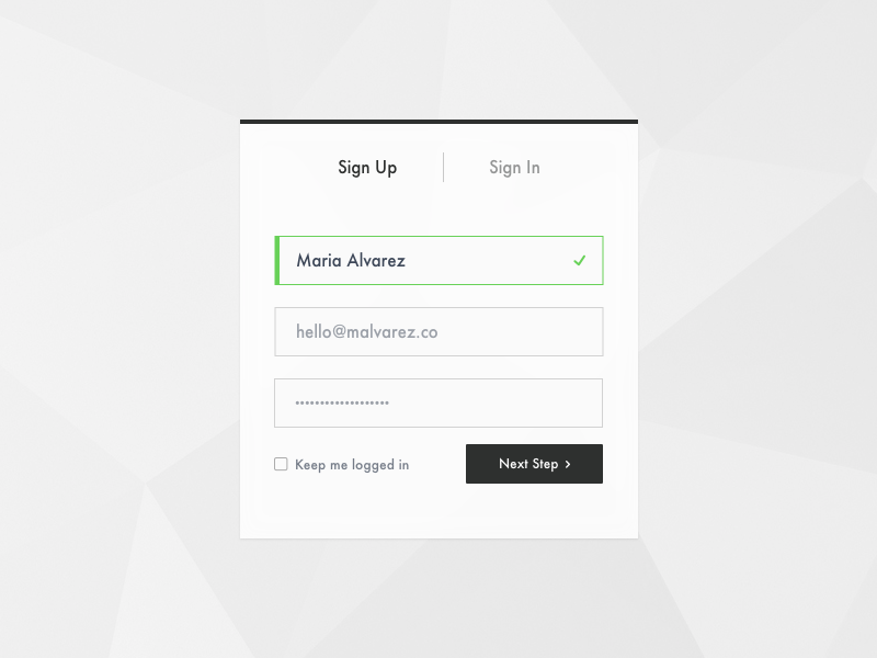 Sign Up sign in sign up modal sign up