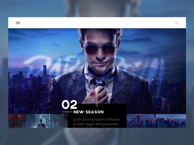 Daredevil landing page one page design challenge dailyui daily ui daredevil landing page
