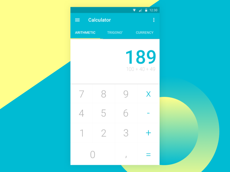 Calculator android design android material design calculatrice daily ui challenge calculator