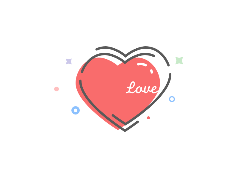 love. icon illustration heart valentines day love