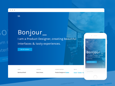 😎 New Portfolio - It's live! may1reboot ui interfaces ui design gradient ui design live portfolio
