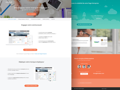 Company Page Landing page professional social network creative ui ux marketing page viadeo landing page