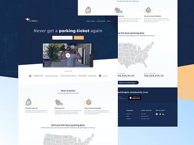 Spotangels - Landing Page web layout gradient ui ux landing page minimalist clean