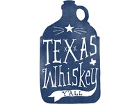 Texas Whiskey Bottle