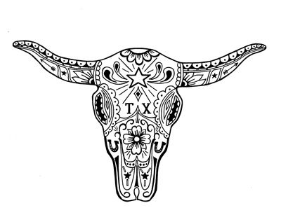 Cow Sugar Skull By Jeb Matulich Dribbble