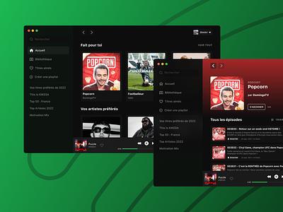Redesign (MacOS Big Sur) – Spotify macos web design