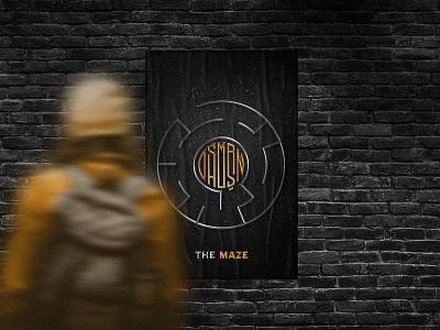 The Maze Poster brand branding poster design imagery salesman osman.work personal personal logo flat logo maze