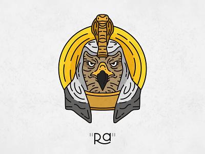 Egyptian God Ra osman.work icon ai sketching flat horus snake cobra falcon head sun god ra mythical mythology egyptian illustration logo design imagery salesman
