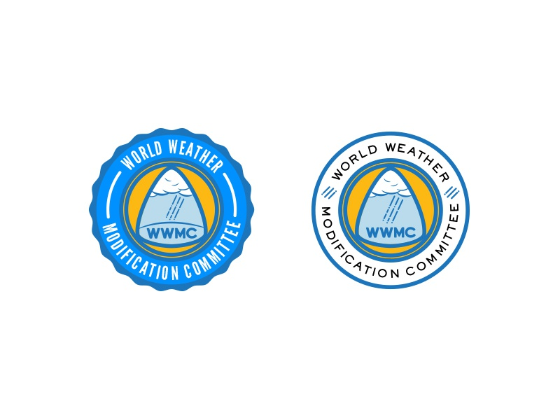 WWMC Badges blue clouds rain weather graphic design design logo badges