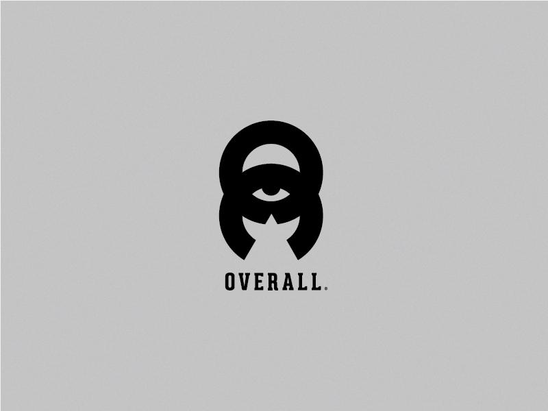 O V E R A L L circles logomark visual design design overlords overall branding mark thicklines logo