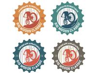 Mountain bike race logo color options