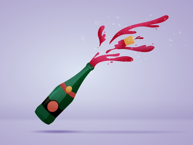 Celebration champagne pocpoc bottle red wine celebration