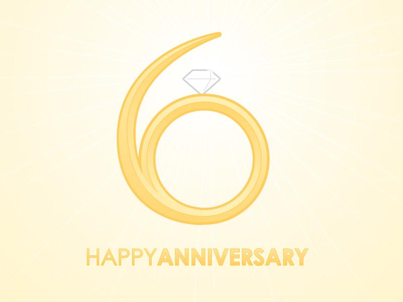 Six Year Anniversary Logo By Justin Ellis On Dribbble