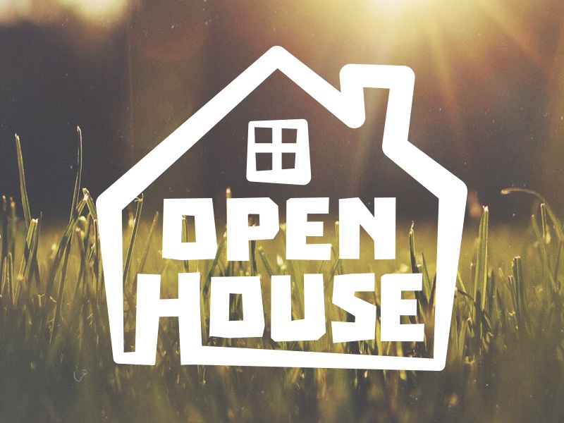 Open house logo by justin ellis dribbble for Open home