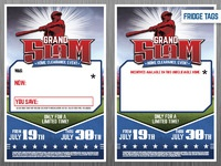Grand slam fridge tags