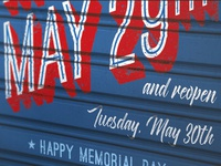 Memorial Day Flyer - High Resolutions