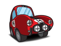 The Love Bug - Thorndyke's Cartoon Ferrari