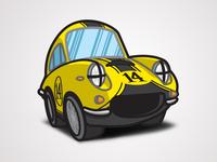 The Love Bug - Thorndyke's Cartoon - Racing (Apollo 5000 GT)