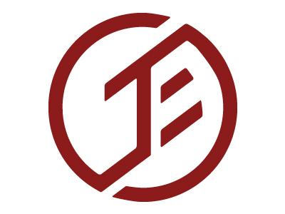Personal Initials red identity logo initials circle circular interlocking design