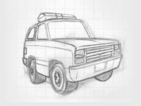 Stranger Things - Hopper's Truck Sketch