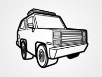 Stranger Things - Hopper's Truck Linework