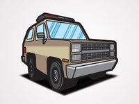 Stranger Things - Hopper's Truck Linework