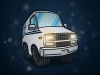 Stranger Cars - Hawkins Electric and Power Van
