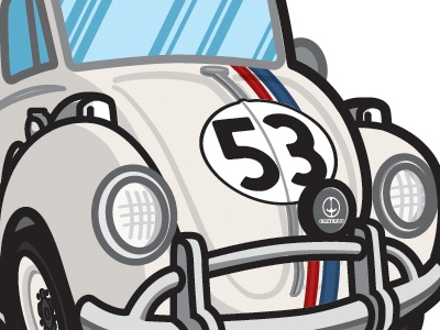 Cartoony Herbie - Goes to Monte Carlo shirt product automotive auto retro cartoon film movie car racing 70s 1970s 1960s 60s fully loaded goes bananas goes to monte carlo rides again bug love