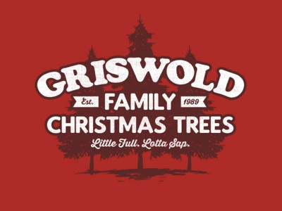 Griswold Family Trees festive humourous cousin eddie humor apparel graphics 1980s 80s retro red holiday movie funny pine tree vacation christmas national lampoon griswold clark