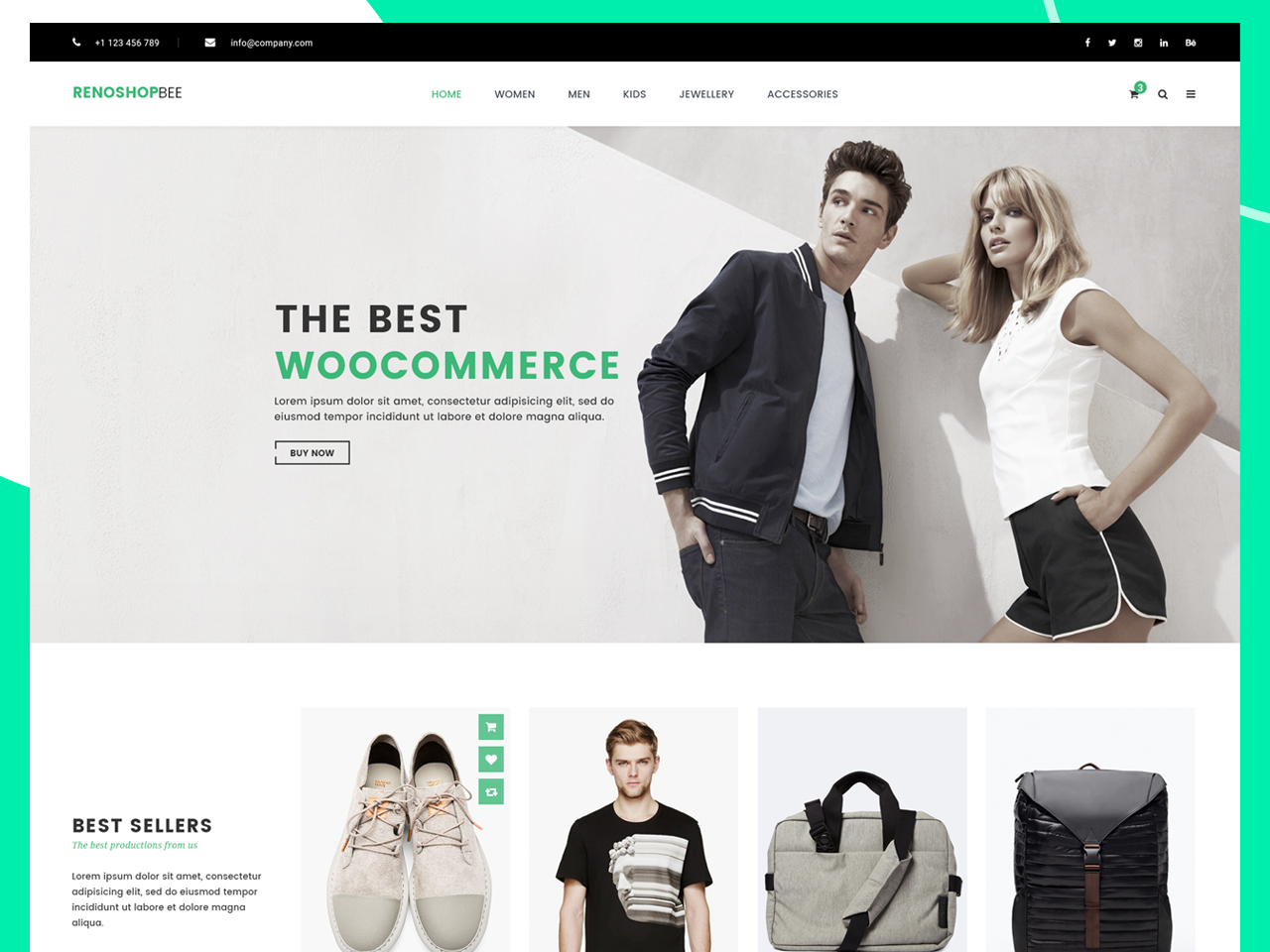 Roneshopbee e-Commerce PSD Template design ecommerce template roneshopbee