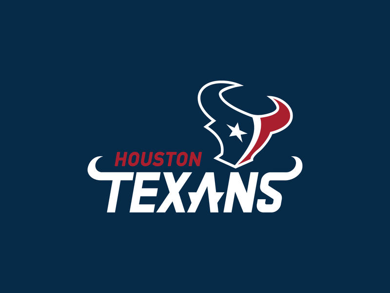 Houston Texans Wordmark Adjustments wordmark houston texas football nfl design nfl typography branding vector type sports design logo