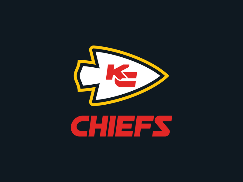 Kansas City Chiefs Logo monogram logo branding football missouri kansas city nfl design nfl typeface font type sports design logo