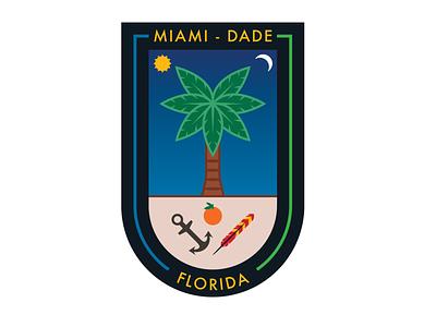 Seal of Miami-Dade County illustration miami seal city branding branding design logo