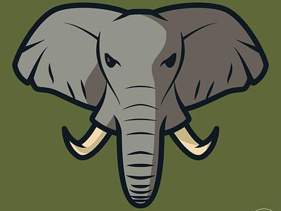 Elephant illustration illustrator elephant animal design logo