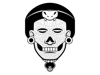 Aztec Death Mask aztec mexico