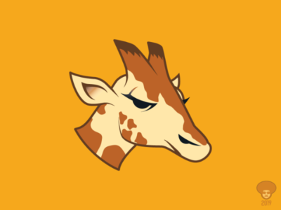 Giraffe Logo logo design animal