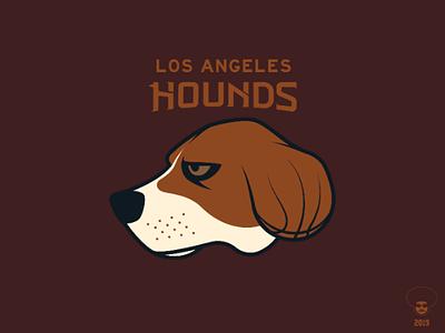 Los Angeles Hounds california los angeles branding nba basketball sport logo animal dog