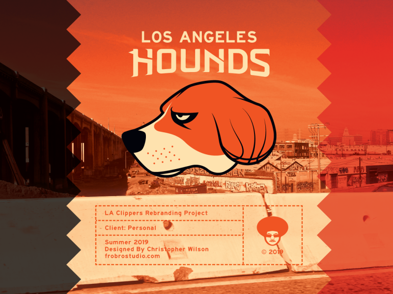Los Angeles Hounds - Branding WIP graphic design art animal california los angeles basketball nba design vector branding sports logo