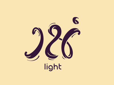 Light | noor | نور line calligraphy arabic calligraphy branding clever minimal abstract logo mark icon light