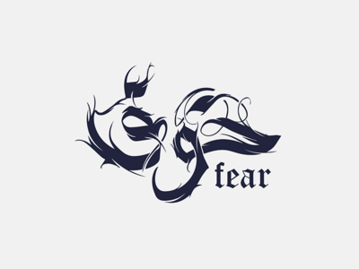 Fear | khauf | خوف symbol branding illustration line arabic calligraphy calligraphy clever icon minimal mark fear