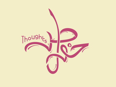 Thoughts | khawatir | خواطر freelance icon vector design flat line calligraphy arabic calligraphy minimal clever